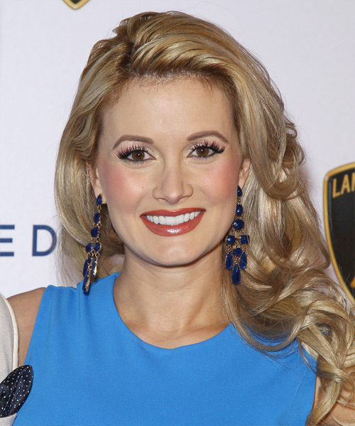 Holly Madison Long Wavy Formal   Hairstyle   - Medium Blonde