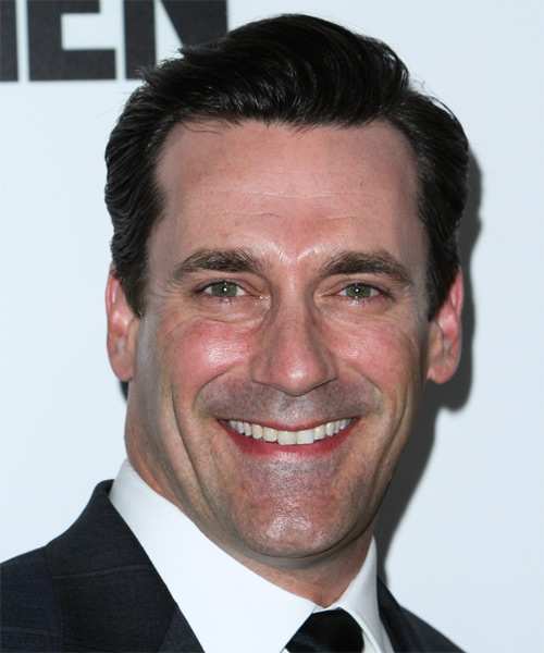 Jon Hamm Short Straight Formal   Hairstyle