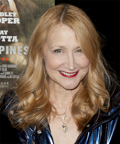 Patricia Clarkson Long Wavy Formal   Hairstyle