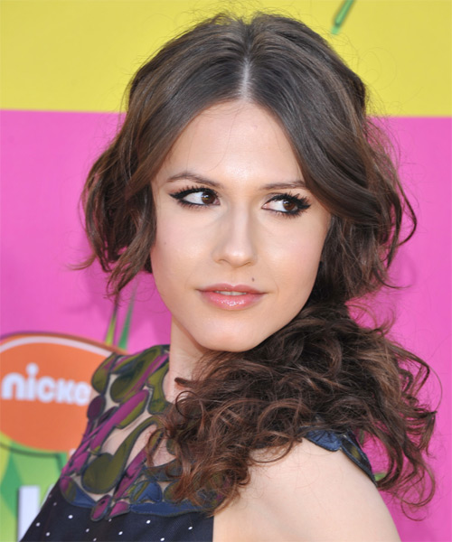 Erin Sanders Half Up Long Curly Casual  Half Up Hairstyle