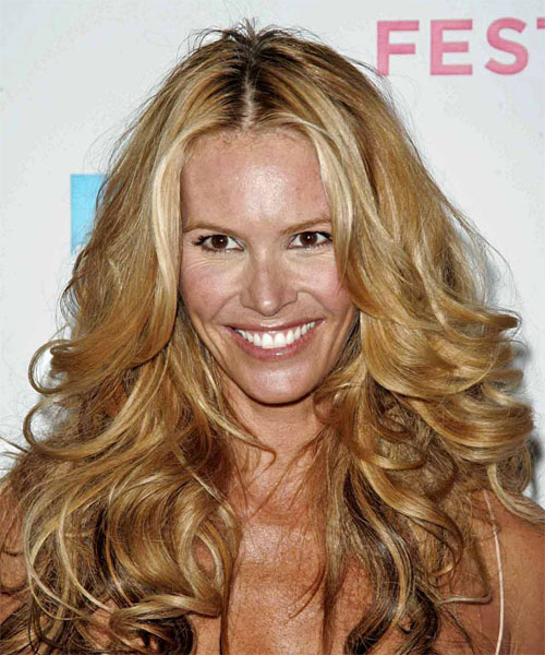 Elle Macpherson Long Wavy Formal   Hairstyle