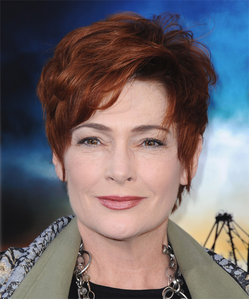 Carolyn Hennesy Short Straight Formal    Hairstyle   - Medium Red Hair Color