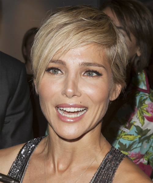 Elsa Pataky Short Straight Casual    Hairstyle   - Medium Blonde Hair Color with Light Blonde Highlights