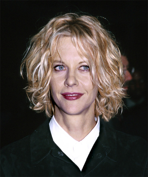 Meg Ryan Medium Wavy Casual Shag  Hairstyle