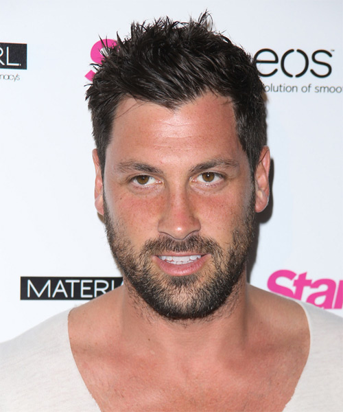 Maksim Chmerkovskiy Short Straight Casual   Hairstyle   - Dark Brunette