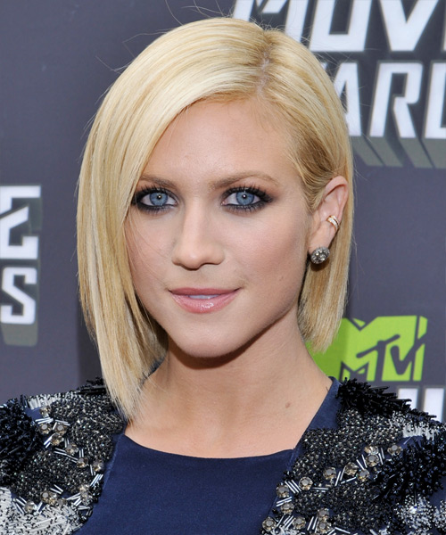 Brittany Snow Short Straight Formal   Hairstyle