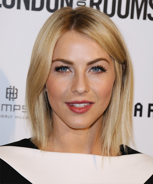 Julianne Hough Medium Straight Formal    Hairstyle   -  Blonde Hair Color with Light Blonde Highlights
