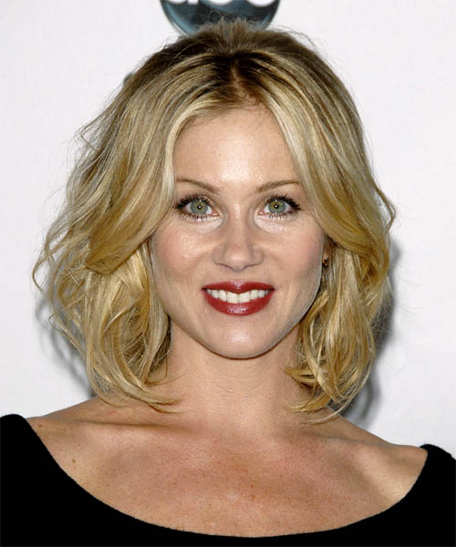 Christina Applegate Medium Wavy Formal    Hairstyle