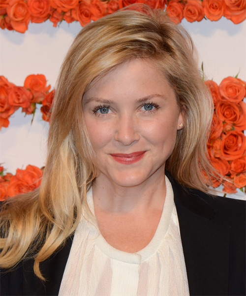 Jessica Capshaw Long Straight Casual    Hairstyle   -  Golden Blonde Hair Color with Light Blonde Highlights