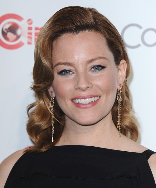 Elizabeth Banks Medium Wavy Formal   Hairstyle   - Dark Blonde