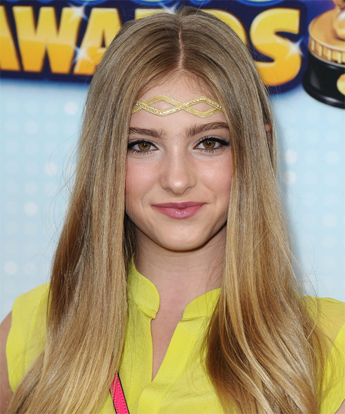 Willow Shields Long Straight Casual   Hairstyle   - Medium Blonde