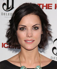 Jaimie Alexander Short Wavy Casual    Hairstyle   - Dark Mocha Brunette Hair Color