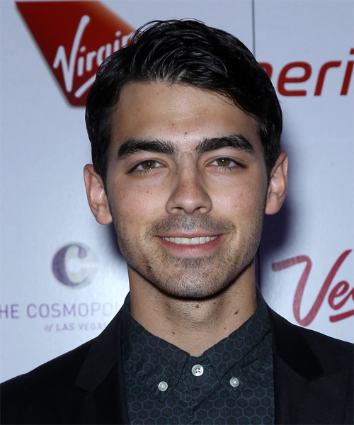 Joe Jonas Casual Short Straight Hairstyle
