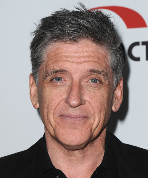 Craig Ferguson Short Straight Casual   Hairstyle   - Medium Grey