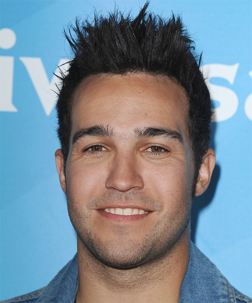 Pete Wentz Short Straight Casual Emo  Hairstyle   - Black