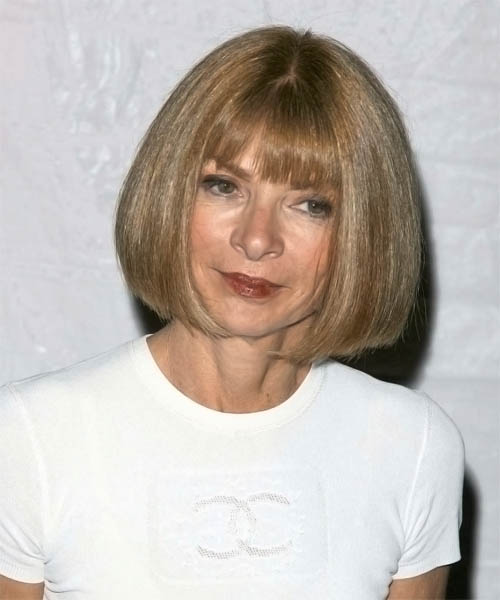 Anna Wintour Medium Straight Pageboy Bob Hairstyle