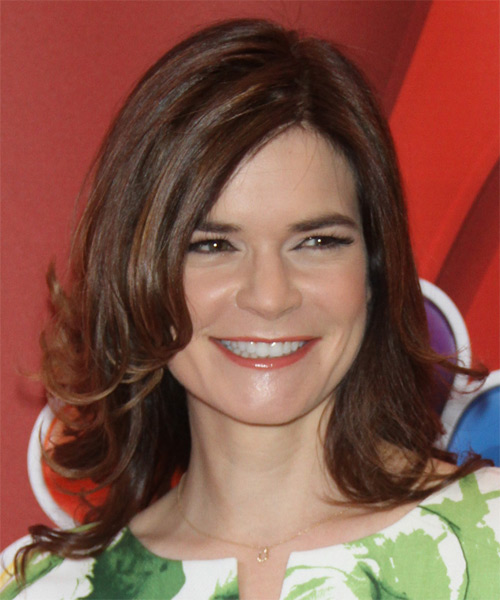 Betsy Brandt Medium Straight Formal   Hairstyle   - Medium Brunette