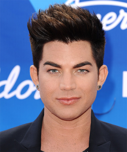 Adam Lambert Short Straight Casual    Hairstyle