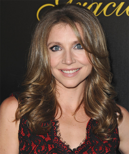 Sarah Chalke Long Wavy Formal   Hairstyle