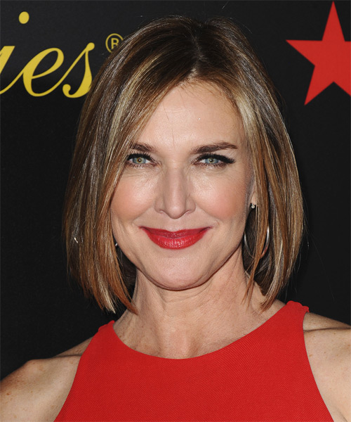 Brenda Strong Medium Straight Casual   Hairstyle