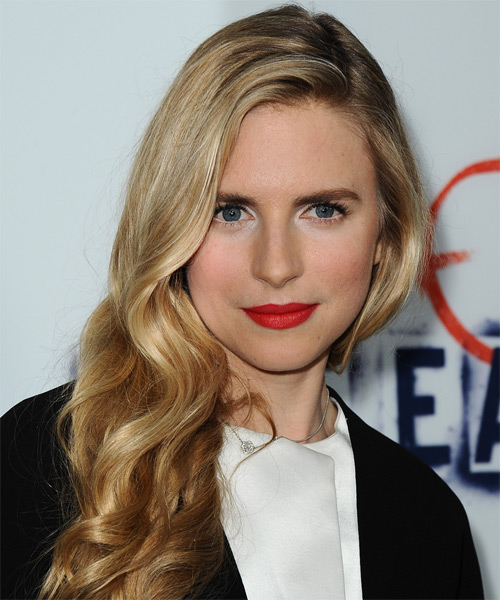 Brit Marling Long Wavy Formal   Hairstyle   - Medium Blonde (Golden)