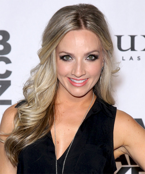 Shannon Bex  Long Curly Formal   Half Up Hairstyle   - Light Champagne Blonde and Light Brunette Two-Tone Hair Color