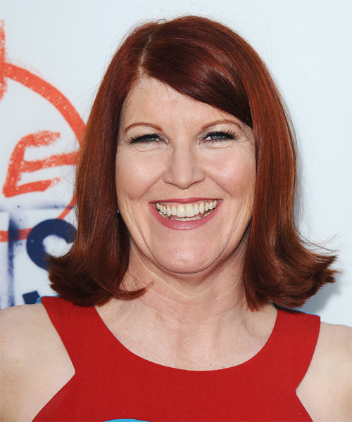 Kate Flannery Medium Straight Formal   Hairstyle   - Medium Red