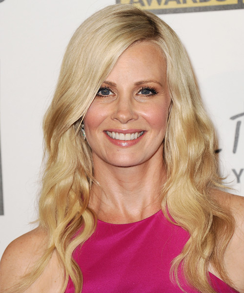 Monica Potter Long Wavy Casual    Hairstyle   - Light Blonde Hair Color