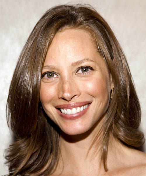 Christy Turlington Long Straight Casual   Hairstyle