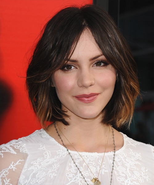 Katharine McPhee Medium Straight Casual   Hairstyle