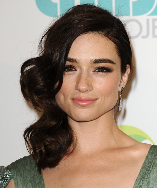 Crystal Reed Medium Wavy Formal   Hairstyle