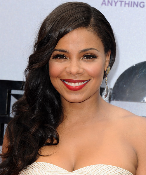 Sanaa Lathan Long Wavy Formal   Hairstyle