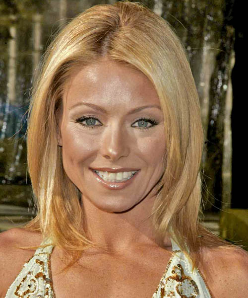 Kelly Ripa Medium Straight Casual   Hairstyle