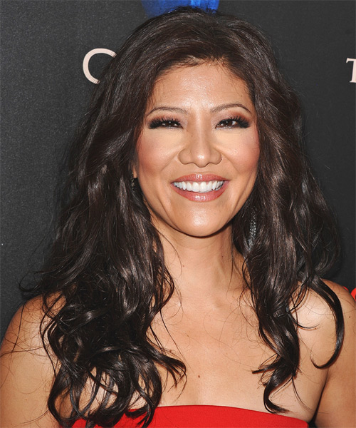 Julie Chen Long Wavy Casual   Hairstyle