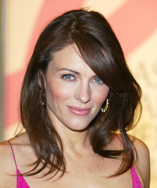 Elizabeth Hurley Long Straight Casual   Hairstyle