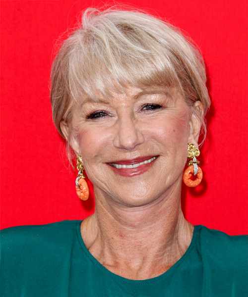 Helen Mirren Casual Short Straight Hairstyle