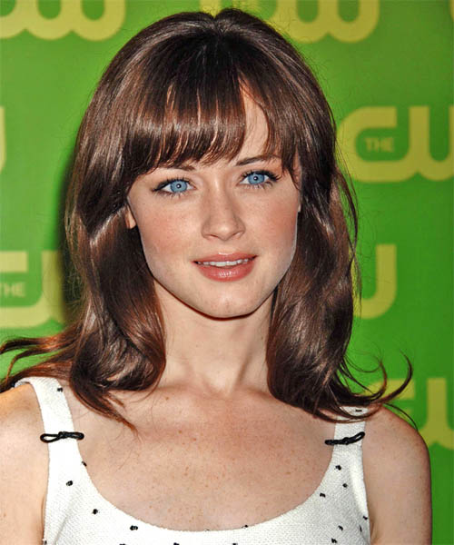 Alexis Bledel Long Straight Casual   Hairstyle