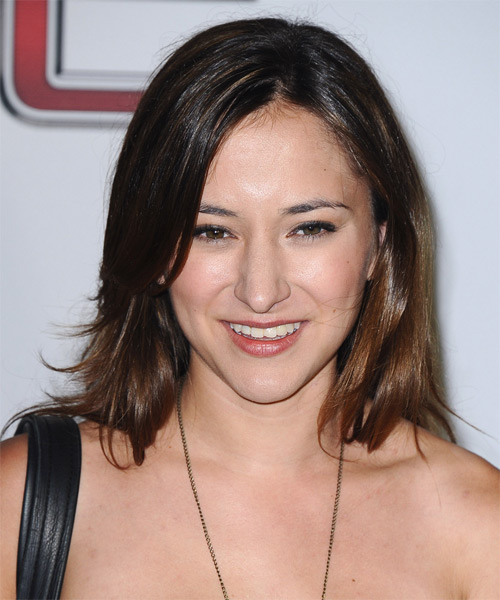 Zelda Williams Medium Straight Casual   Hairstyle
