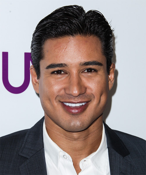 Mario Lopez Short Straight Formal   Hairstyle