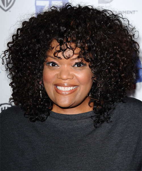 Yvette Nicole Brown Medium Curly Casual    Hairstyle