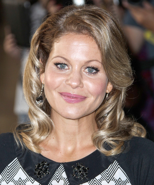 Candace Cameron Bure Medium Wavy Formal   Hairstyle