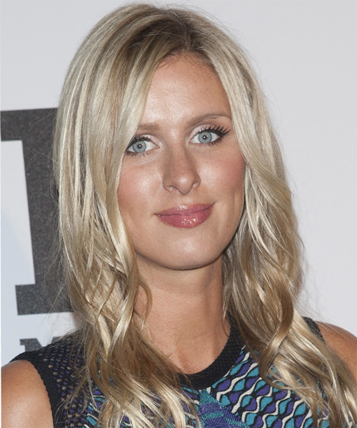 Nicky Hilton Long Straight Casual    Hairstyle   - Champagne Hair Color