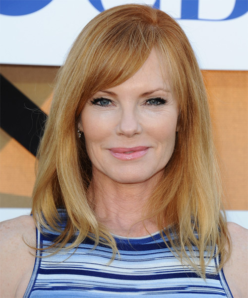 Marg Helgenberger Medium Straight Casual   Hairstyle