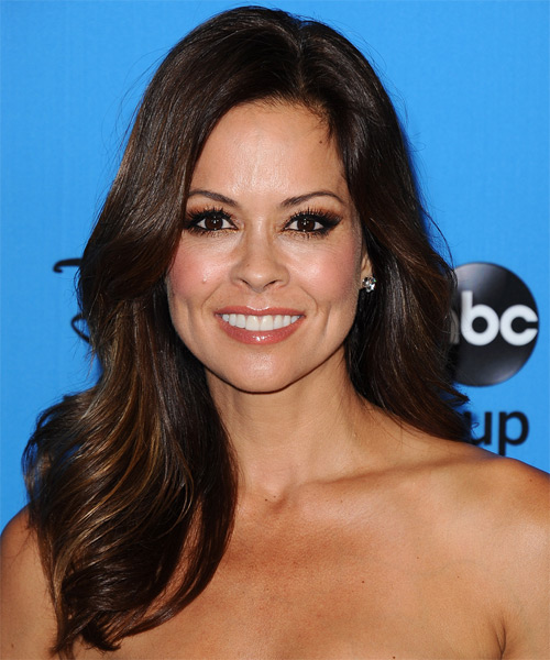 Brooke Burke  Long Straight Formal   Hairstyle