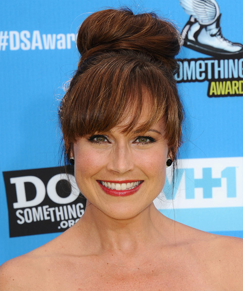 Nikki DeLoach  Long Straight Formal   Updo Hairstyle