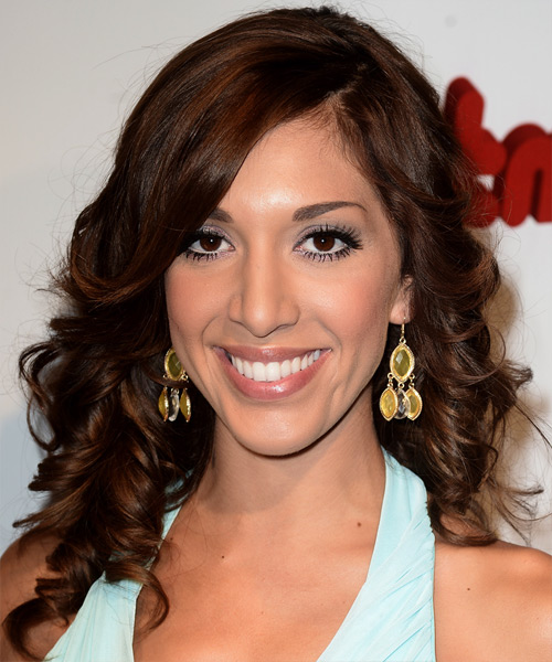 Farrah Abraham Long Curly Formal   Hairstyle