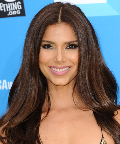 Roselyn Sanchez Long Straight Formal   Hairstyle