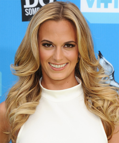 Jena Sims Long Wavy Formal   Hairstyle