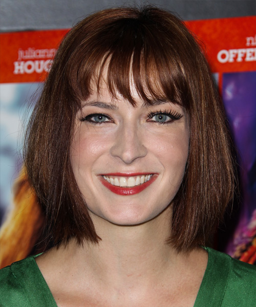 Diablo Cody Medium Straight     Hairstyle