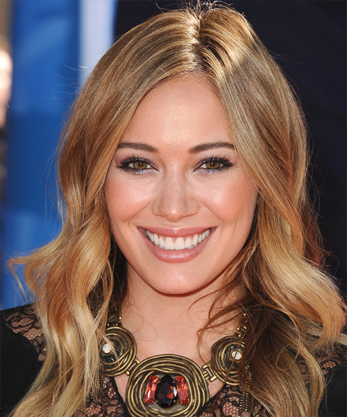 simply hair styles hilary duff wavy casual hairstyle 8333
